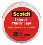 3M 190TRAN 3/4x125 Transparent Plastic Tape - 6 Pack