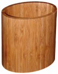 Totally Bamboo 20-2063 Kitchen Utensil Holder, Oval, Bamboo