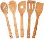 Totally Bamboo 20-2069 Bamboo Utensil Set, 5-Pc.