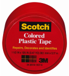 3M 191RD 1-1/2 x 125-Inch Red Plastic Tape