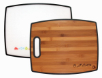 Totally Bamboo 20-7942 Cutting Board, Reversible Bamboo/Poly, 16-In.