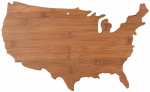 Totally Bamboo 20-8000US Bamboo Cutting Board, USA-Shape