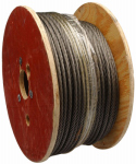 Apex Tools Group 7008027 WIRE ROPE,1/4X500',6X19 Fiber Cre black