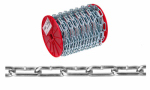 Apex Tools Group T0724527 3/0 Straight Link Coil Chain, Zinc Plated, 100' per Reel