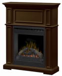 Dimplex North America DFP20L-1331BN Hayden Classic Fireplace, Brown, 20-In.