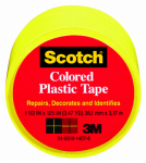3M 191YL 1-1/2 x 125-Inch Yellow Plastic Tape