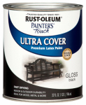 Rust-Oleum 1979-502 Gloss Premium Latex Paint, Black, 1-Qt.