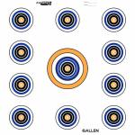 Allen 15208 EZ Aim 11 Spot Target, White, 12-In.
