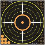 Allen 15222 EZ See Bullseye Target, Round, Adhesive, 12-In., 5-Pk.
