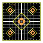 Allen 15224 EZ See Grid Target, Adhesive, Black, 12-In., 5-Pk.