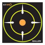 Allen 15226 EZ See Bullseye Target, Adhesive, Black, 6-In., 12-Pk.