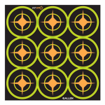 Allen 15252 EZ See Aiming Dots, Adhesive, Black, 2-In., 12-Sheets