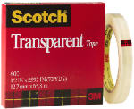 3M 600 Scotch Transparent Tape, .5-In. x 72-Yds.