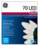 Nicolas Holiday GE90226 Staybright Christmas LED Light Set, C5, White, 70-Ct.