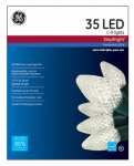 Nicolas Holiday GE90936 Staybright Christmas LED Light Set, C9, White, 35-Ct.