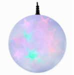 Polygroup Limited TVL15009 Christmas LED Holographic Sphere, Multi, 6-In.