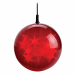 Polygroup Limited TVL15021 Christmas LED Holographic Sphere, Red, 6-In.
