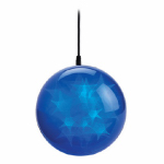 Polygroup Limited TVL15023 Christmas LED Holographic Sphere, Blue, 6-In.