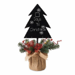 "Gerson 2240200TV ""Days Til Christmas"" Tree Chalkboard, 19-In."