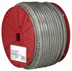 "Apex Tools Group 7000797 CABLE,HI VIZ ORG,3/16-1/4"",250'/RL"