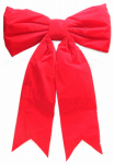 Dyno Seasonal Solutions 4402P4-36IN Christmas Decoration, Bow Red Velvet, Indoor/Outdoor, 36 x 50-In.