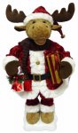 4 Seasons Global HYX1524003 Christmas Animated Moose With Lighted Lantern, 24-In.