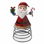 4 Seasons Global JF142581 Christmas Tabletop Decoration, Santa On A Spring