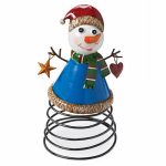 4 Seasons Global JF142582 Christmas Tabletop Decoration, Snowman On A Spring
