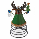 4 Seasons Global JF142583 Christmas Tabletop Decoration, Reindeer On A Spring
