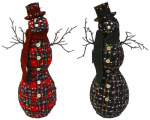 "4 Seasons Global XQ15-118AB 20"" Stand Snowman/Scarf"