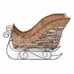 4 Seasons Global ZL15-FJ230336N Christmas Decoration, Rattan & Burlap Sleigh