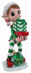 Reson Enterprises 17819 Christmas Elf Decoration, With Lighted Gift Boxes & Ornament, 36-In.