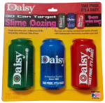 Daisy Mfg 990812-613 Oozing Can Targets, 3-Pack, 12-oz.