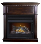 World Marketing Of America GFD2670 Early American Gas Fireplace, Vent-Free, Dual Fuel, 27,500-BTU