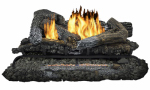 World Marketing Of America GLD2465R Fireplace Log Set With Remote, Dual Fuel, Vent-Free, 33,000-BTU, 24-In.