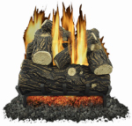 World Marketing Of America GLV018 Fireplace Log Set, Vented, 45,000-BTU, 18-In.