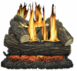 World Marketing Of America GLV024 Fireplace Log Set, Vented, 55,000-BTU, 24-In.