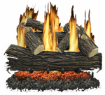World Marketing Of America GLV030 Fireplace Log Set, Vented, 65,000-BTU, 30-In.