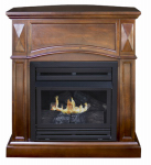 World Marketing Of America GFD2042 Belmont Gas Fireplace, Vent-Free, Vintage Cherry Finish, 20,000-BTU