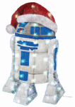 Kurt S Adler ZTSW9TV9133 Christmas Lawn Decoration, Lighted R2D2, 28-In.
