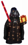 Kurt S Adler ZTSW9TV9155 Star Wars Lawn Decoration, Lighted Darth Vader Bearing Gift, 28-In.