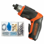 Black & Decker/Dewalt BDCS40BI Rechargable Screwdriver, 4-Volt, Lithium-Ion