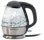 Edgecraft 6800001 Electric Tea Kettle, Glass, Cordless, 1.5-Qts.