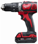 Milwaukee Electric or Electrical Tool 2607-22CT M18 Hammer Drill/Driver Kit, Cordless, Compact, 18-Volt, Lithium-Ion, 1/2-In.