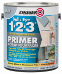 Zinsser & 285085 Bulls Eye 1-2-3 Primer, Gray, 1-Gal.