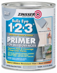 Zinsser & 286258 Bulls Eye 1-2-3 Primer, Water Base, Gray, 1-Qt.