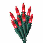 Noma/Inliten-Import 4053-88A Christmas Light Set, Mini, Red, 50-Ct.