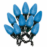 Noma/Inliten-Import 47658-88A LED Light Set, C9, Blue, Faceted, 25-Ct.