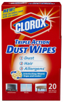 Clorox The 31313 Clorox Triple Action Dust Wipes 20ct