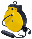 Alert Stamping & Mfg 3225ATC Tri-Tap Cord Reel, Retractable, 3 outlets,
